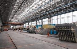 Εργοστάσιο αεροπορίας του στρατιωτικού αεροπλάνου Συνέλευση του ρωσικού πολλαπλών ρόλων μαχητή Μέρος πολλών αεροσκαφών Στοκ Φωτογραφία