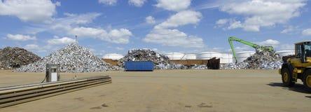 Εργοστάσιο ανακύκλωσης μετάλλων Στοκ εικόνες με δικαίωμα ελεύθερης χρήσης