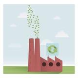 Εργοστάσιο ανακύκλωσης διανυσματική απεικόνιση