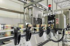 Εργοστάσιο για τα ποτά στα δοχεία Στοκ εικόνες με δικαίωμα ελεύθερης χρήσης