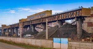 Εργοστάσιο για την πλύση του μεταλλεύματος μαγγάνιου Στοκ Φωτογραφία