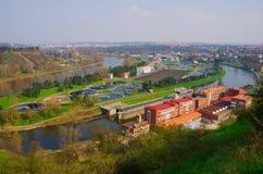 Εργοστάσιο επεξεργασίας αποβλήτων νερού Στοκ φωτογραφία με δικαίωμα ελεύθερης χρήσης