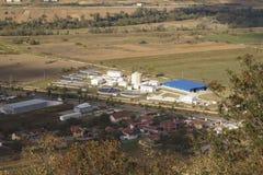 Εργοστάσιο επεξεργασίας νερού - δείτε από το λόφο του φρουρίου - Deva, Ρουμανία στοκ φωτογραφία με δικαίωμα ελεύθερης χρήσης