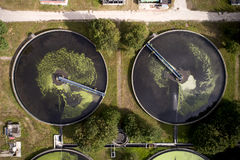 Εργοστάσιο επεξεργασίας νερού Στοκ εικόνα με δικαίωμα ελεύθερης χρήσης