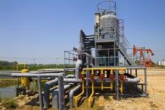 Εργοστάσιο επεξεργασίας πετρελαίου και φυσικού αερίου Στοκ Εικόνες