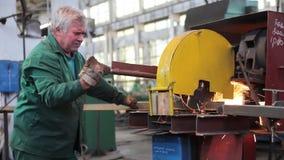 Εργοστάσιο επεξεργασίας προϊόντων μετάλλων απόθεμα βίντεο