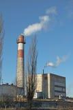 1 εργοστάσιο καπνοδόχων Στοκ φωτογραφία με δικαίωμα ελεύθερης χρήσης