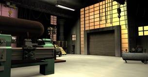 Εργοστάσιο μέσα ελεύθερη απεικόνιση δικαιώματος