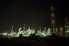 Εργοστάσιο νύχτας, εγκαταστάσεις, εργαστήριο Στοκ Φωτογραφίες