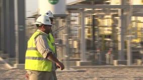Εργοστάσιο πετρελαίου απόθεμα βίντεο