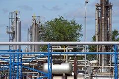 Εργοστάσιο πετροχημικών εγκαταστάσεων καθαρισμού στοκ εικόνες με δικαίωμα ελεύθερης χρήσης