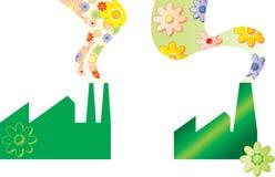 εργοστάσιο πράσινο Ελεύθερη απεικόνιση δικαιώματος