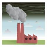 Εργοστάσιο ρύπανσης Στοκ Εικόνες