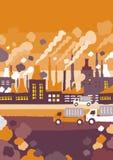 Εργοστάσιο στις έννοιες πόλεων Στοκ φωτογραφίες με δικαίωμα ελεύθερης χρήσης