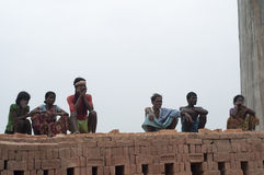 Εργοστάσιο τούβλου στην Ινδία Στοκ Εικόνα