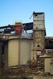 εργοστάσιο τσιμέντου παλαιό Στοκ Εικόνα