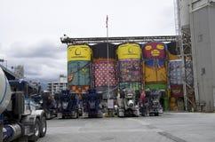 Εργοστάσιο τσιμέντου στο νησί Granville Στοκ Φωτογραφία