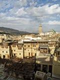 Εργοστάσιο φλοιών και χρωστικών ουσιών στο Fez στοκ φωτογραφία