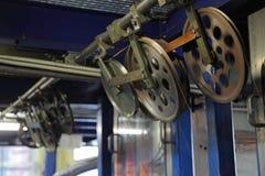 Εργοστάσιο χάλκινων καλωδίων Μηχανισμός εργαλείων Στοκ εικόνες με δικαίωμα ελεύθερης χρήσης