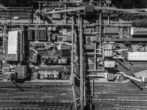 Εργοστάσιο χάλυβα μεταλλουργικό φυτό χαλυβουργεία, εργοστάσια σιδήρου Heav Στοκ Φωτογραφία