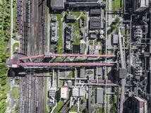 Εργοστάσιο χάλυβα μεταλλουργικό φυτό χαλυβουργεία, εργοστάσια σιδήρου Heav Στοκ φωτογραφίες με δικαίωμα ελεύθερης χρήσης