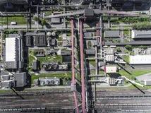 Εργοστάσιο χάλυβα μεταλλουργικό φυτό χαλυβουργεία, εργοστάσια σιδήρου Heav Στοκ Εικόνες