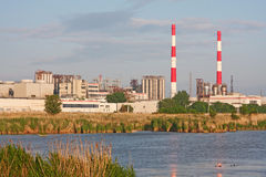 εργοστάσιο χημικής βιομηχανίας στοκ φωτογραφία