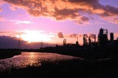 Εργοστάσιο χημικής βιομηχανίας Στοκ εικόνες με δικαίωμα ελεύθερης χρήσης