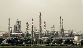 εργοστάσιο χημικής βιομ&e Στοκ Εικόνες