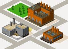 εργοστάσιο isometric Στοκ φωτογραφίες με δικαίωμα ελεύθερης χρήσης