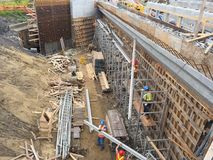 Εργοτάξιο γεφυρών Στοκ εικόνες με δικαίωμα ελεύθερης χρήσης