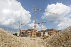 Εργοτάξιο για τα σπίτια διαμερισμάτων, Γερμανία Στοκ εικόνες με δικαίωμα ελεύθερης χρήσης