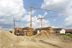 Εργοτάξιο για τα σπίτια διαμερισμάτων, Γερμανία Στοκ Εικόνα