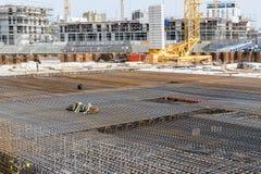 Εργοτάξιο οικοδομής ενός κτηρίου Στοκ φωτογραφίες με δικαίωμα ελεύθερης χρήσης