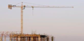 εργοτάξιο οικοδομής κάτω Στοκ εικόνες με δικαίωμα ελεύθερης χρήσης
