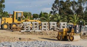 Εργοτάξιο οικοδομής και υλικά στοκ εικόνες με δικαίωμα ελεύθερης χρήσης