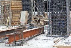 Εργοτάξιο οικοδομής κατοικίας Στοκ φωτογραφίες με δικαίωμα ελεύθερης χρήσης