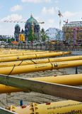 Εργοτάξιο οικοδομής κοντά στο θόλο του Βερολίνου στοκ φωτογραφίες