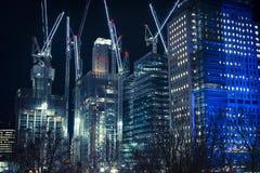 Εργοτάξιο οικοδομής κοντά στο σταθμό του Βατερλώ, Λονδίνο, Αγγλία, UK στοκ εικόνα