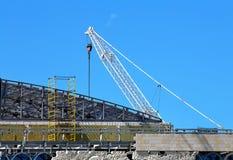 Εργοτάξιο οικοδομής μιας βιομηχανικής δυνατότητας Στοκ Εικόνα