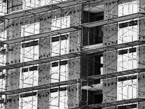 Εργοτάξιο οικοδομής σπιτιών τούβλου Σπίτι τούβλου οικοδόμησης κτηρίου Ατελής εγχώρια κατασκευή Στοκ Εικόνες
