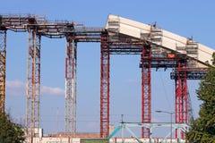 Εργοτάξιο οικοδομής τόξων γεφυρών στοκ φωτογραφία
