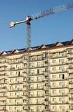 Εργοτάξιο οικοδομής ψηλού κτιρίου Στοκ Φωτογραφίες