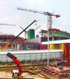 Εργοτάξιο οικοδομής αερολιμένων, Σιγκαπούρη Στοκ Φωτογραφίες