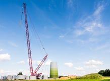 Εργοτάξιο οικοδομής ανεμόμυλων Στοκ Εικόνες