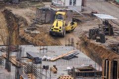 Εργοτάξιο οικοδομής από τη τοπ άποψη Στοκ εικόνα με δικαίωμα ελεύθερης χρήσης
