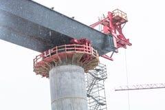 Εργοτάξιο οικοδομής γεφυρών σε NRW σε Bestwig Στοκ φωτογραφία με δικαίωμα ελεύθερης χρήσης