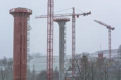 Εργοτάξιο οικοδομής γεφυρών σε NRW σε Bestwig Στοκ Εικόνες