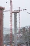 Εργοτάξιο οικοδομής γεφυρών σε NRW σε Bestwig Στοκ Φωτογραφίες