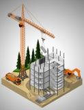 Εργοτάξιο οικοδομής και τεχνική σχετικά Στοκ φωτογραφία με δικαίωμα ελεύθερης χρήσης